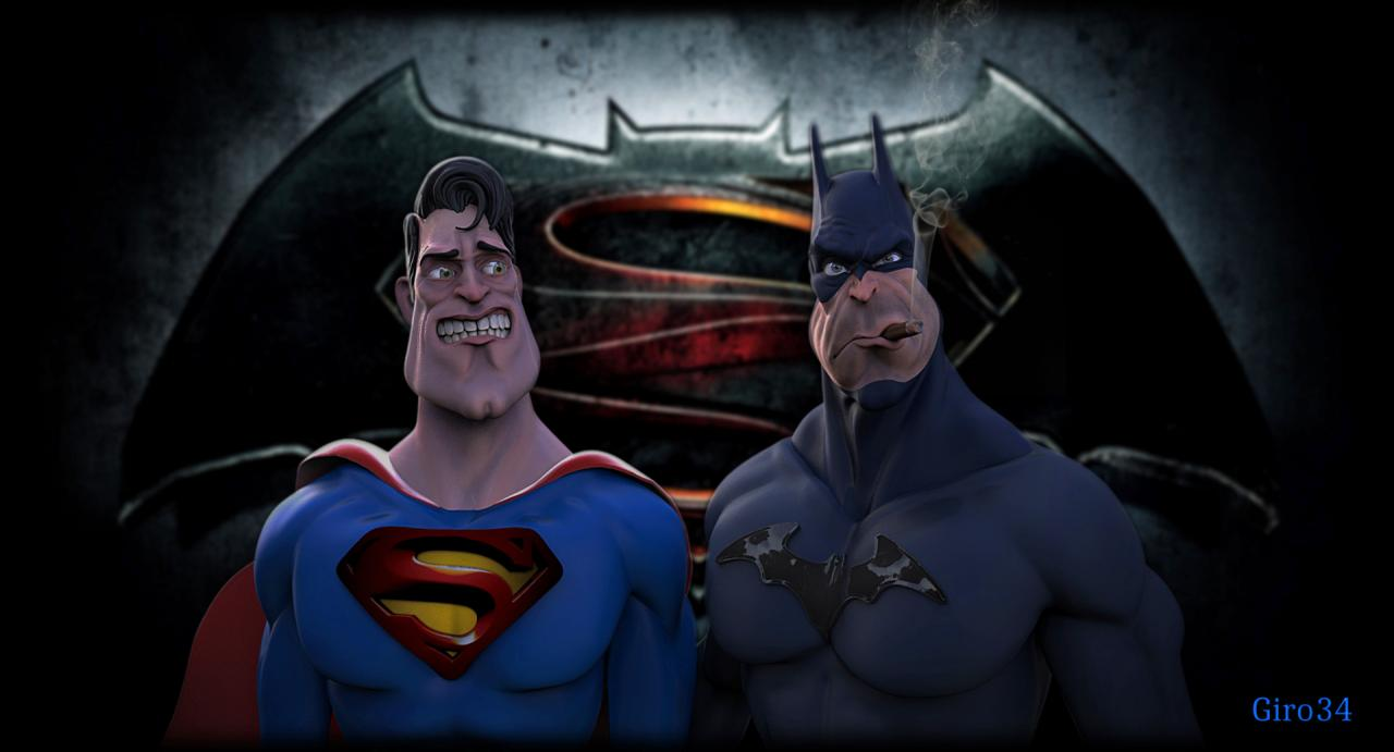 Caricature de BATMAN VS SUPERMAN