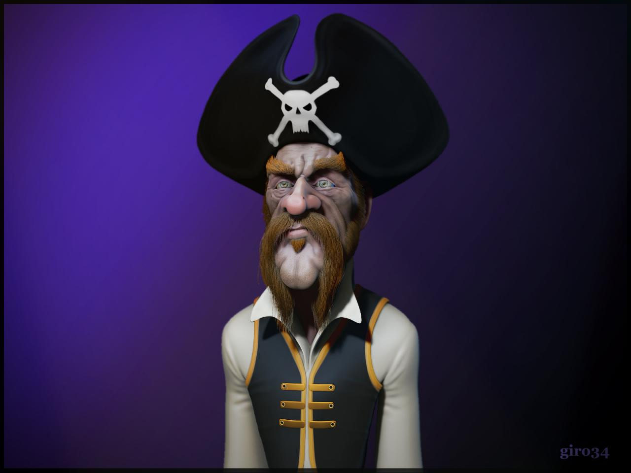 Caricature pirate